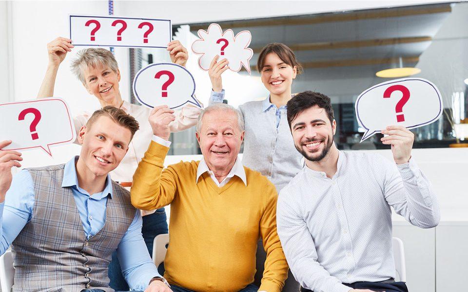 Fragetechnik: So entwickeln Sie Mitarbeiter und Kunden zu kreativen Problemlösern